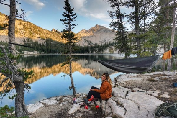 Camping in the Sawtooth mountains with my Hennessy Hammock.
